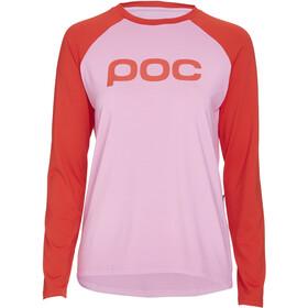 POC Essential MTB Jersey Women altair pink/prismane red